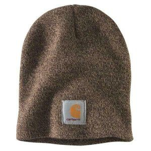 Carhartt Mens One Size OFA Dark Brown Knit Hat